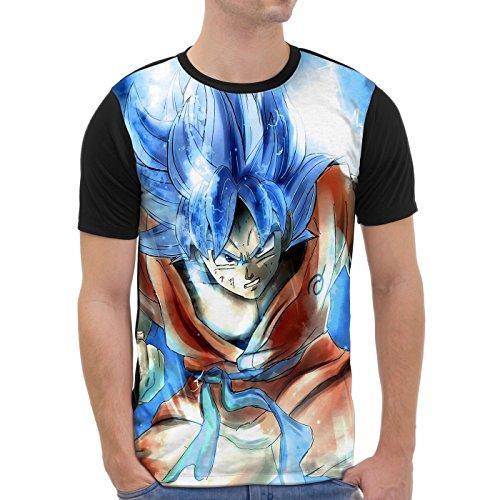 VOID Goku Camiseta gráfica para hombre T-Shirt all-over print turtle ball z  songoku dragon 37cbc3c08cb27